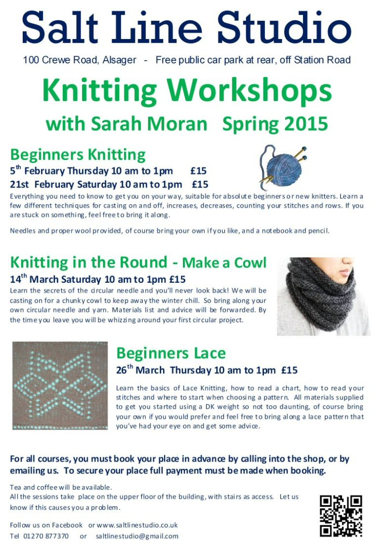 Knitting workshops Spring 2015