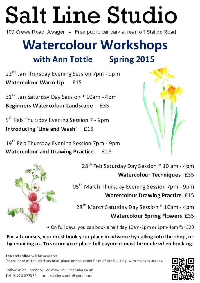 Watercolour workshops spring 2015